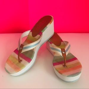 Coach Felicite Multicolor Wedge Thong